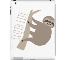 Sloth Life - Happy Lazy Sloth on Tree iPad Case/Skin