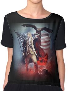 Donald Trump Leading America Out of Hell... Chiffon Top
