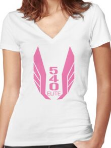 540 Elite pink Women's Fitted V-Neck T-Shirt