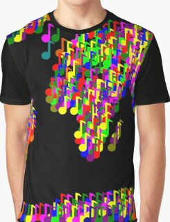 World Map Music Notes Graphic T-Shirt