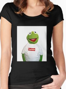 Supreme Kermit the Frog Women's Fitted Scoop T-Shirt