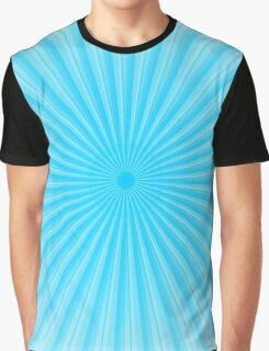 Blue Rays Of Light Graphic T-Shirt