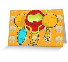 Samus Yellow Greeting Card