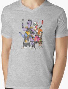 Burger Force Mens V-Neck T-Shirt