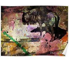 Wildebeest Wonder Poster