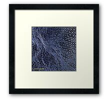 Abstract Topology in Blue Framed Print