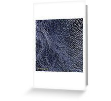Abstract Topology in Blue Greeting Card