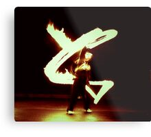 She Paints with Fire Metal Print