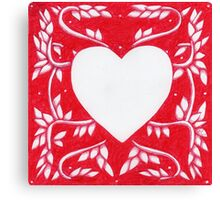 Red Ink Heart Canvas Print