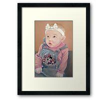 Shauna's precious girl Framed Print