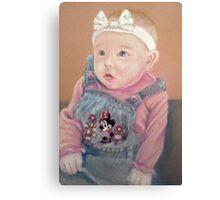 Shauna's precious girl Canvas Print