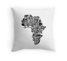 Where You Live - Africa Throw Pillow