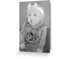 Shauna's precious girl Greeting Card