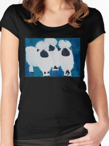 The Mod Squad Sheep Women's Fitted Scoop T-Shirt