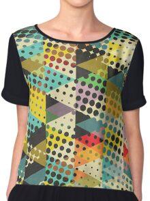 Dots and Triangles II Chiffon Top