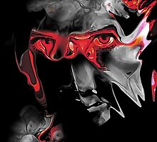 About Face Abstract Portrait by Galen Valle