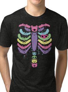 Bear Bones Kawaii Drip Tri-blend T-Shirt