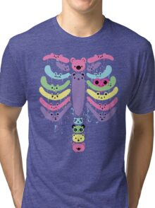 Bear Bones Kawaii Drip Tri-blend T-Shirt