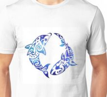 Blue Dolphin & Shark Unisex T-Shirt
