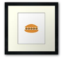 hamburger inside hamburger Framed Print