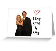I ship Seth & Amy Greeting Card