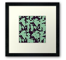 Purple and Green 90s Framed Print