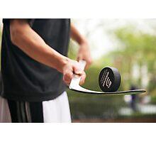 Puck Balacing Photographic Print