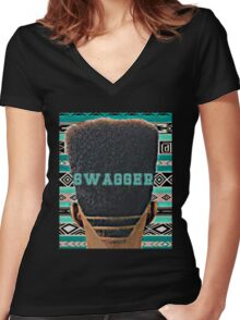 Swagger graphic T-shirt Women's Fitted V-Neck T-Shirt
