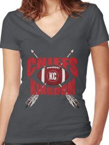 Chiefs  Women's Fitted V-Neck T-Shirt