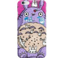 Totoro w/ background  iPhone Case/Skin
