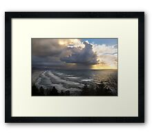 Sunset at Cape Lookout, Oregon. Framed Print
