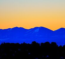 La Sal Mountain Sunset by Michael Kannard