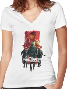 Inglorious Muppets Women's Fitted V-Neck T-Shirt