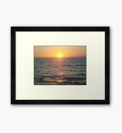 Caribbean Sunset Framed Print