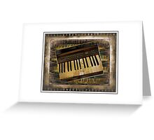 Vintage Piano Keyboard Greeting Card