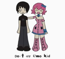 Don't cry emo kid by Lolita Tequila One Piece - Short Sleeve