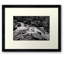 Rock Falls  Framed Print