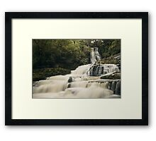 McLean Falls, Catlins, New Zealand  Framed Print