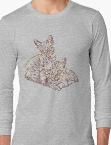 Two Mighty Kittens Long Sleeve T-Shirt