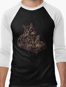 Two Mighty Kittens Men's Baseball ¾ T-Shirt