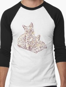 Two Mighty Kittens Men's Baseball ¾ T-Shirt