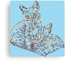 Two Mighty Kittens Canvas Print