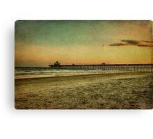 Folly Beach at Sunset: Charleston SC Canvas Print