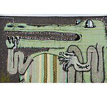 Graffiti Art Crocodile Photographic Print