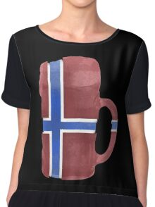Norway Beer Flag Chiffon Top