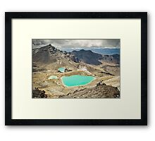 Emerald Lakes Framed Print