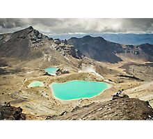 Emerald Lakes Photographic Print