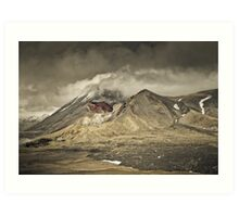 Red Crater & Mt Ngauruhoe Art Print