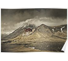 Red Crater & Mt Ngauruhoe Poster