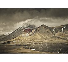 Red Crater & Mt Ngauruhoe Photographic Print